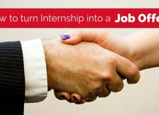 turn internship into job offer