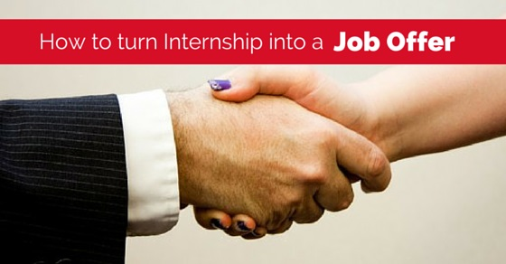 turn internship into job offer