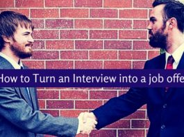 turn interview into job offer