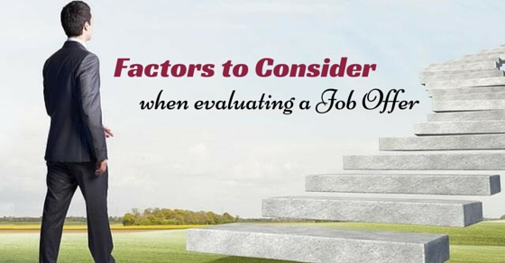 when evaluating job offer