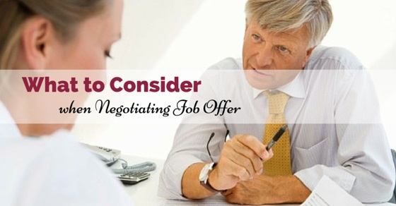 when negotiating job offer