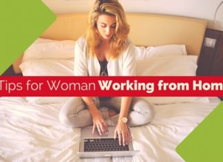 woman working from home tips