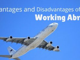 working abroad advantages disadvantages