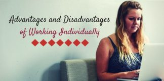 working individually advantages disadvantages