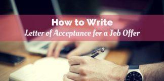 write job offer acceptance letter