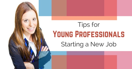 young professionals starting job
