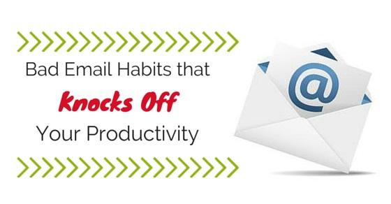 bad email habits avoid