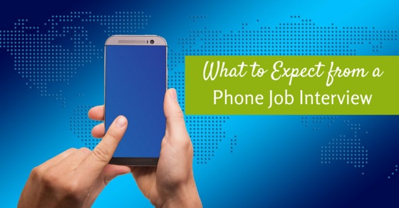 expect from phone job interview