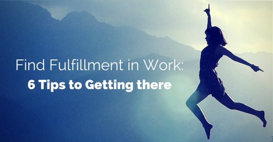 find fulfillment in work