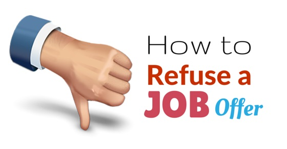 how refuse job offer