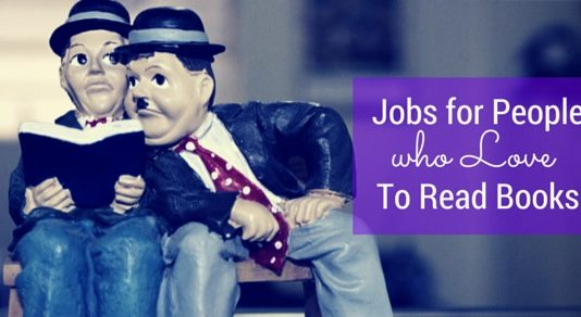 jobs for people read books