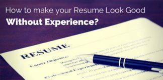 make good resume no experience