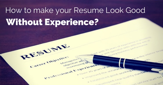 Make Good Resume No Experience  How To Make A Resume Look Good