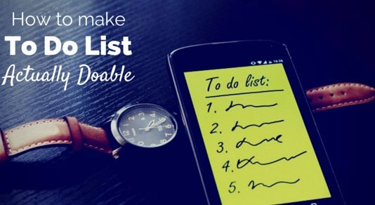 make to do list doable