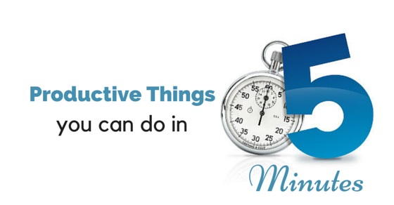 productive things in 5 minutes