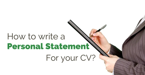 write personal statement cv
