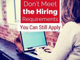 dont meet hiring requirements