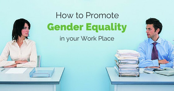 how promote gender equality workplace