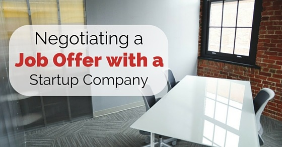 negotiating job offer with startup