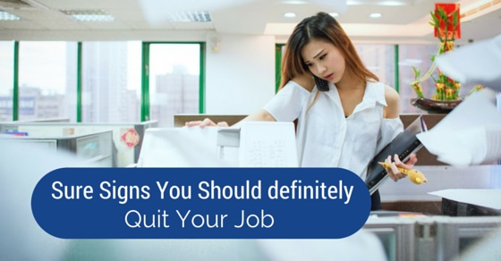 sure signs to quit job