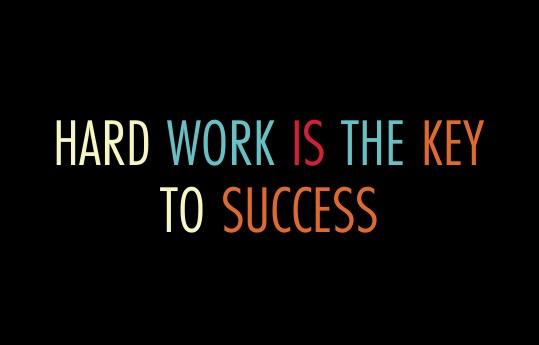 hard work is key