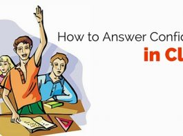 answer confidently in class
