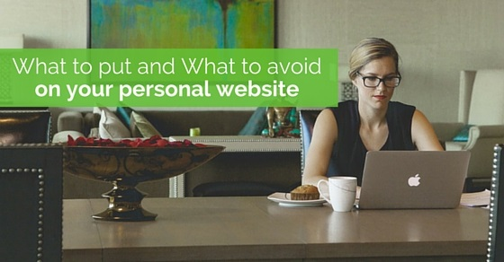 avoid on personal website