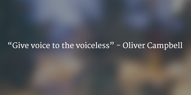 give voice to voiceless