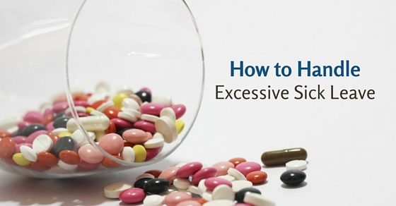 handle excessive sick leave