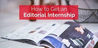 how get editorial internship