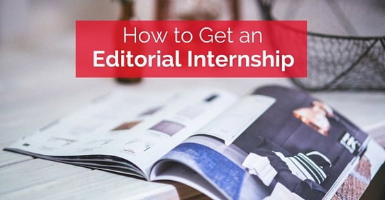 how get editorial internship