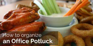 how organize office potluck