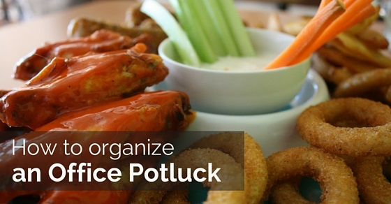 how organize office potluck