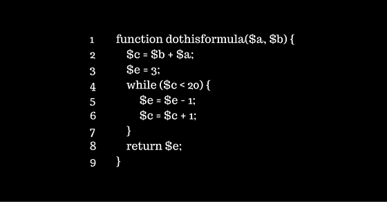 indentation and spacing