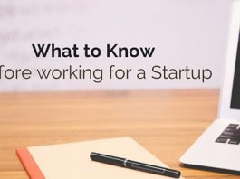 know before working for startup