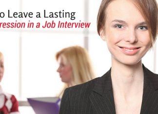 lasting impression in job interview