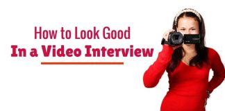 look good in video interview