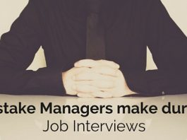 mistakes managers make job interviews