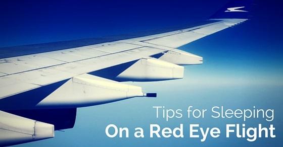 sleeping on red eye flights