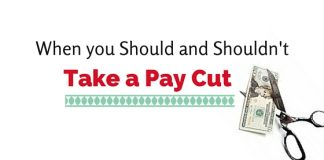 take a pay cut