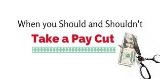 take a pay cut