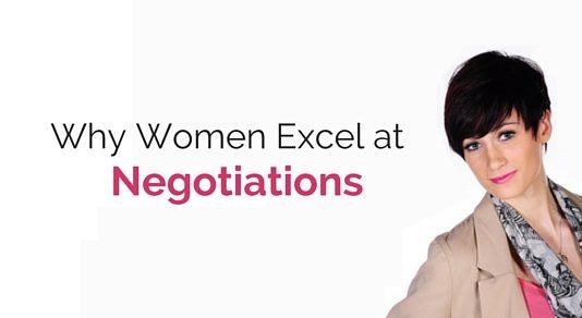 women excel at negotiations