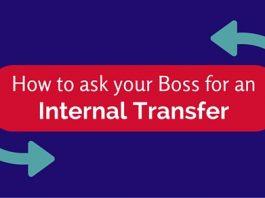 ask boss for internal transfer