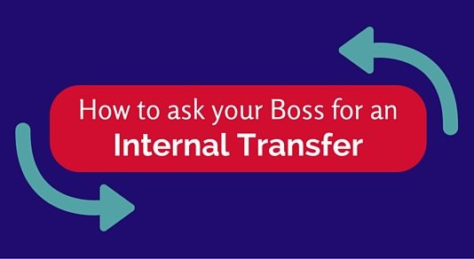 ask boss for internal transfer
