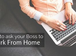 ask boss work from home
