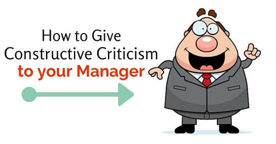 constructive criticism to manager