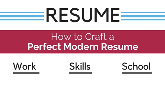 craft perfect modern resume