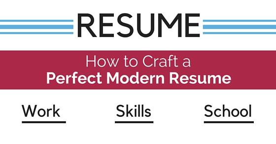 craft perfect modern resume
