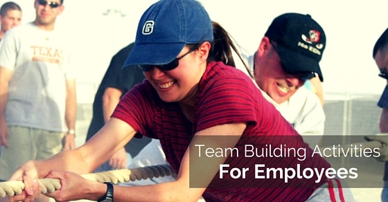 employees team building activities