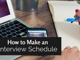 how make interview shedule